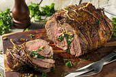 Roasted Stuffed Leg of Lamb with Spinach and Pine Nuts