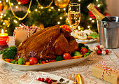 Roast turkey for Christmas dinner