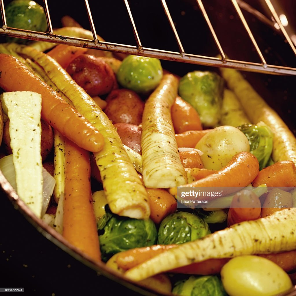 Roasted Vegetables in the Oven : Stock Photo