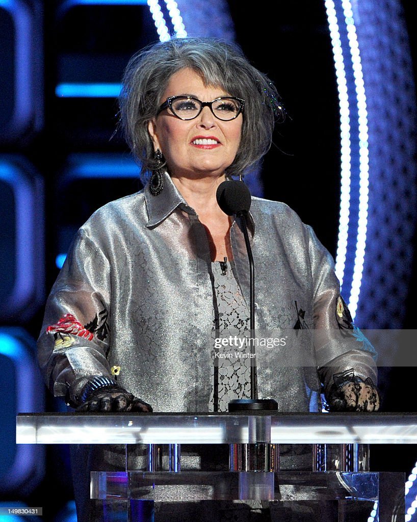 Roastee <a gi-track='captionPersonalityLinkClicked' href=/galleries/search?phrase=Roseanne+Barr&family=editorial&specificpeople=228388 ng-click='$event.stopPropagation()'>Roseanne Barr</a> onstage during the Comedy Central Roast of <a gi-track='captionPersonalityLinkClicked' href=/galleries/search?phrase=Roseanne+Barr&family=editorial&specificpeople=228388 ng-click='$event.stopPropagation()'>Roseanne Barr</a> at Hollywood Palladium on August 4, 2012 in Hollywood, California.
