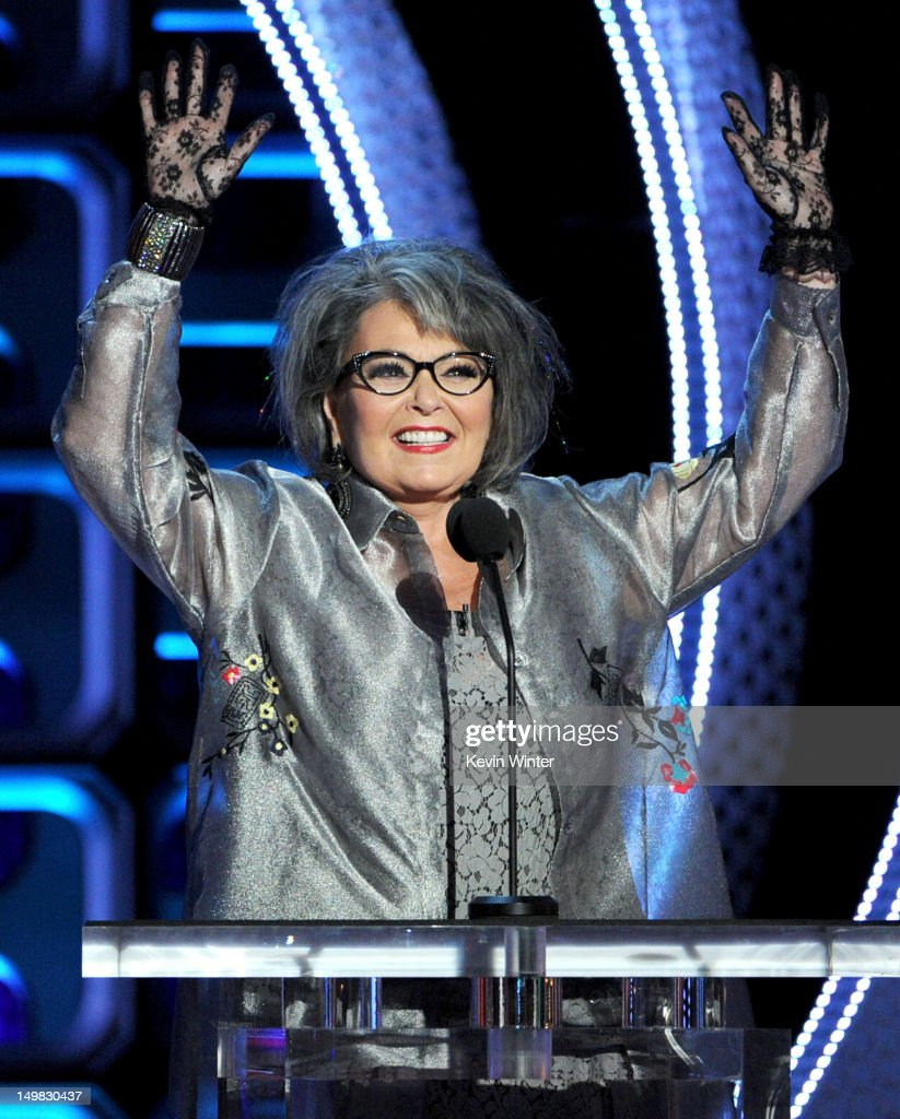 Roastee <a gi-track='captionPersonalityLinkClicked' href=/galleries/search?phrase=Roseanne+Barr&family=editorial&specificpeople=228388 ng-click='$event.stopPropagation()'>Roseanne Barr</a> speaks onstage during the Comedy Central Roast of <a gi-track='captionPersonalityLinkClicked' href=/galleries/search?phrase=Roseanne+Barr&family=editorial&specificpeople=228388 ng-click='$event.stopPropagation()'>Roseanne Barr</a> at Hollywood Palladium on August 4, 2012 in Hollywood, California.