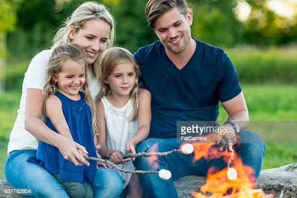 Roasting Marshmallows Around the Fire