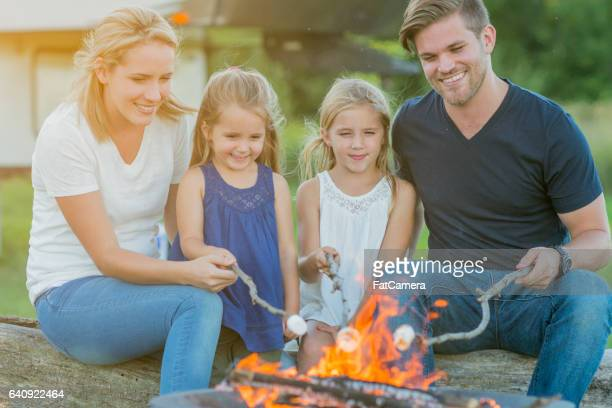 Roasting Marshmallows Around the Fire