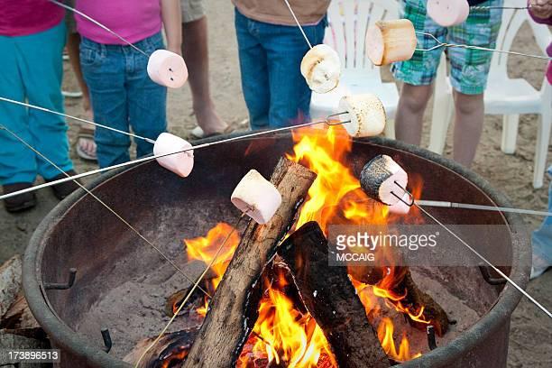 Rôtir des marshmallows
