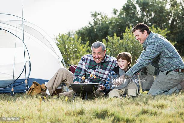 Family Roasting Marshmallows Stock Photos and Pictures ...