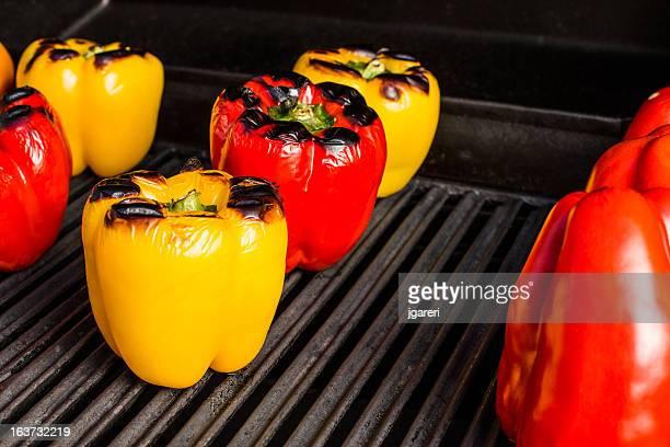 Roasting peppers