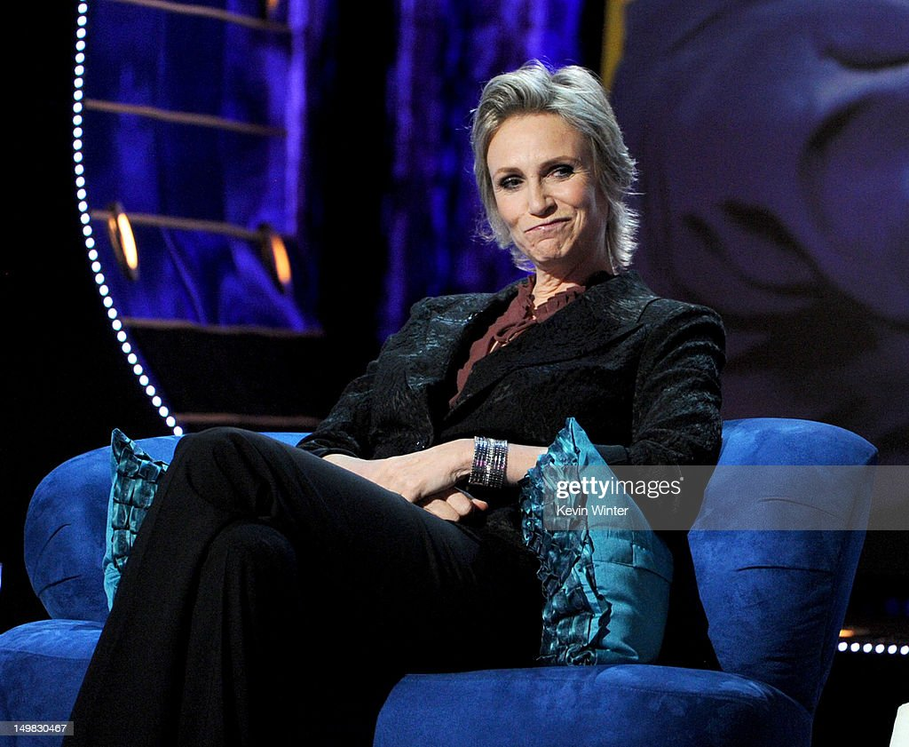 Roastmaster Jane Lynch onstage during the Comedy Central Roast of Roseanne Barr at Hollywood Palladium on August 4, 2012 in Hollywood, California.