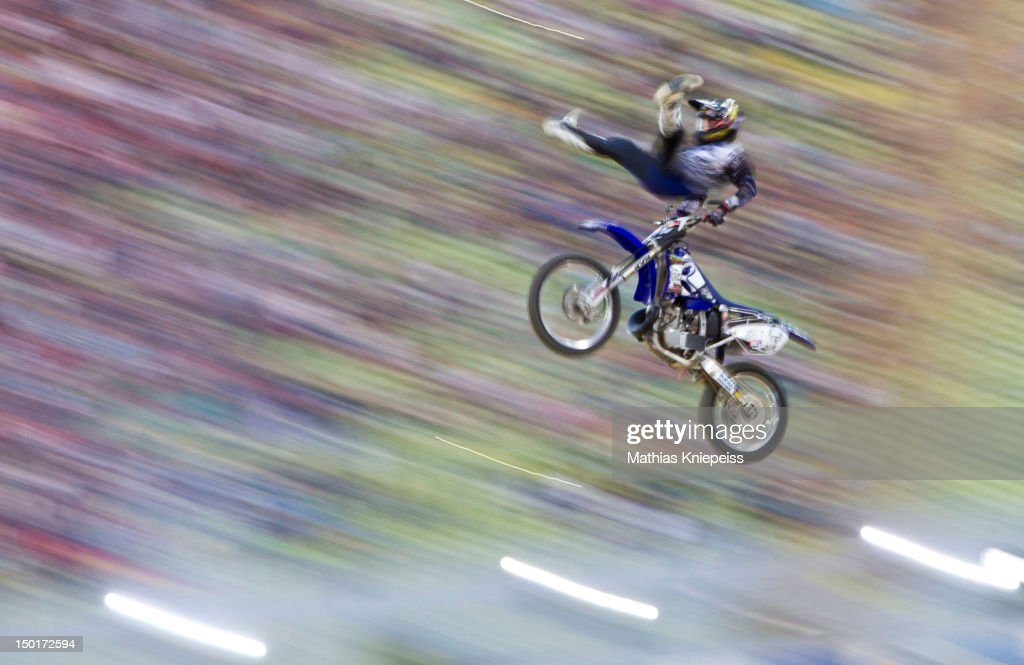 Rob Adelberg of Australia in action during the Red Bull X-Fighters World Tour at Olympia stadium on August 11, 2012 in Munich, Germany.