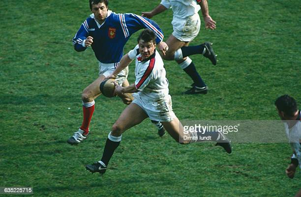 Rob Andrews from England during a Five Nations Championship against France