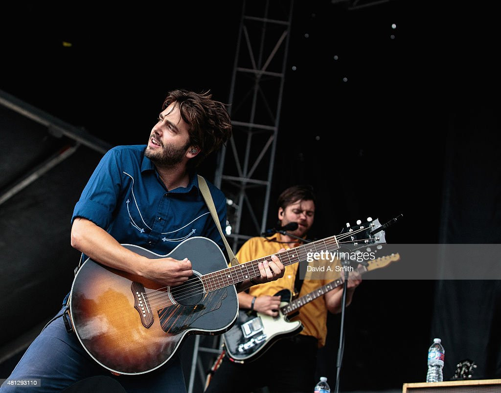 Rob Ball of Lord Huron performs at day 1 of the Sloss Music and Arts Festival at Sloss Furnace on July 18 2015 in Birmingham Alabama