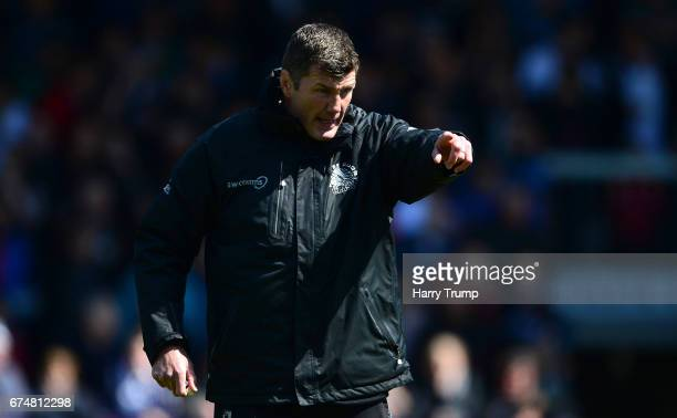 Rob Baxter Head Coach of Exeter Chiefs during the Aviva Premiership match between Exeter Chiefs and Northampton Saints at Sandy Park on April 29 2017...
