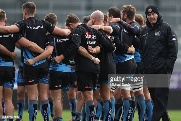 Rob Baxter the Director of Rugby of Exeter during the Exeter Chiefs training session at Sandy Park on October 13 2016 in Exeter England