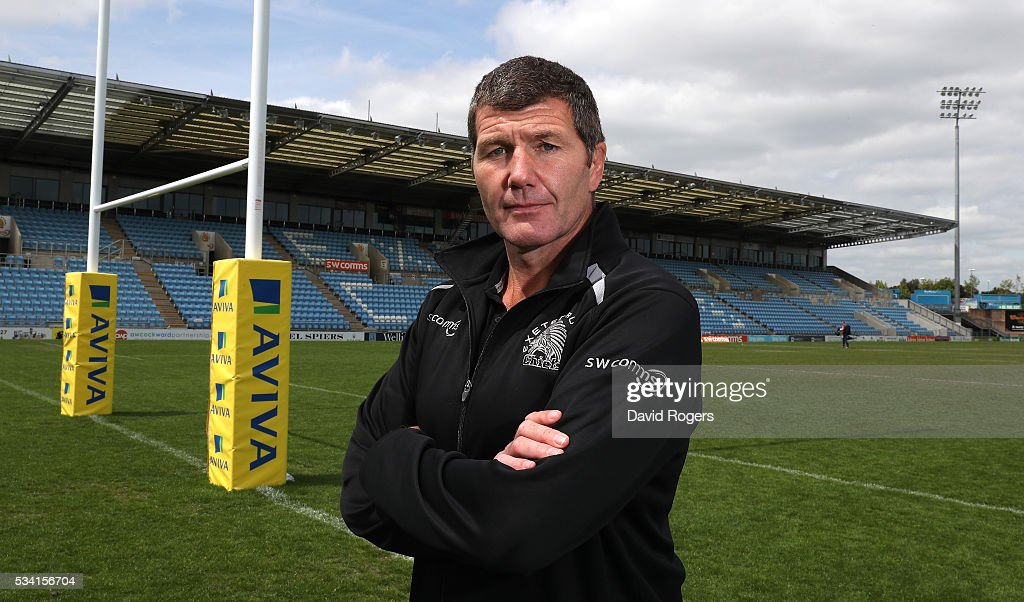 <a gi-track='captionPersonalityLinkClicked' href=/galleries/search?phrase=Rob+Baxter&family=editorial&specificpeople=6991195 ng-click='$event.stopPropagation()'>Rob Baxter</a>, the Exeter Chiefs head coach poses during the Exeter Chiefs media session held at Sandy Park on May 25, 2016 in Exeter, England.
