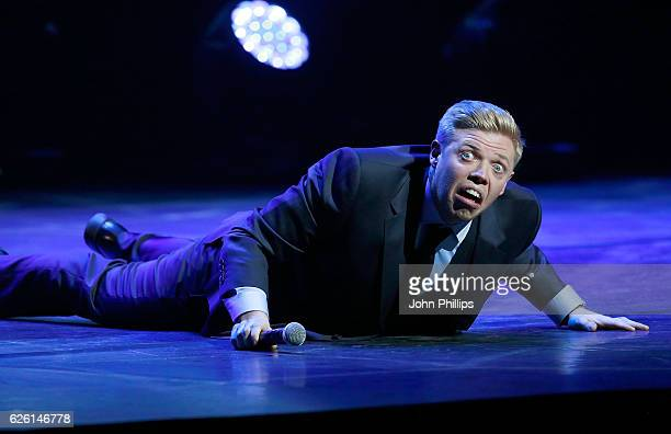 Rob Beckett performs on stage during Absolute Radio Live in aid of Macmillan Cancer Support at the London Palladium on November 27 2016 in London...