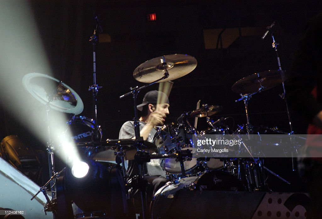 Rob Bourdon of Linkin Park during Linkin Park Meteora World Tour 2004 New York at Nassau Coliseum in Uniondale New York United States