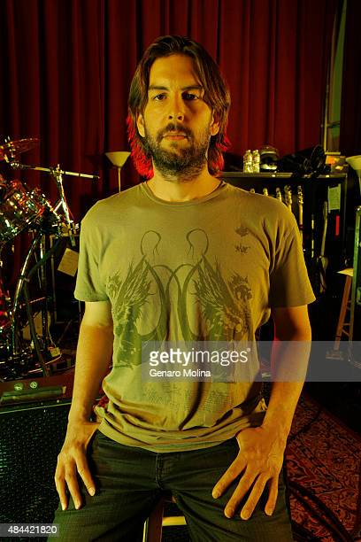 Rob Bourdon of musical group Linkin Park is photographed for Los Angeles Times on May 15 2014 in North Hollywood California