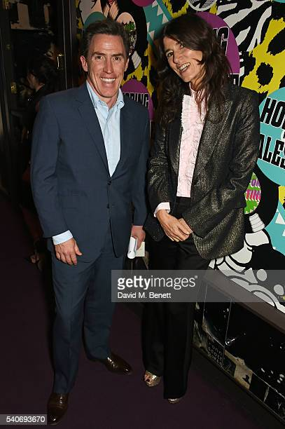 Rob Brydon and Bella Freud attend 'Hoping's Greatest Hits' the 10th anniversary of The Hoping Foundation's fundraising event for Palestinian refugee...
