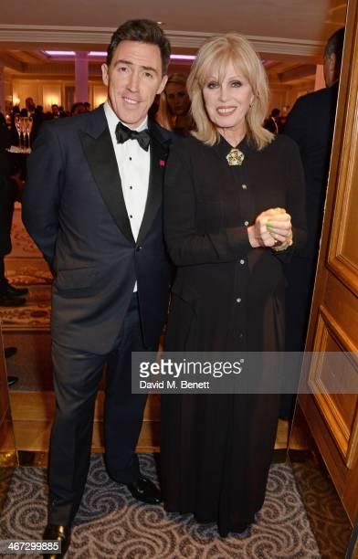 Rob Brydon and Joanna Lumley attends The Prince's Trust Invest In Futures dinner at The Savoy Hotel on February 6 2014 in London England
