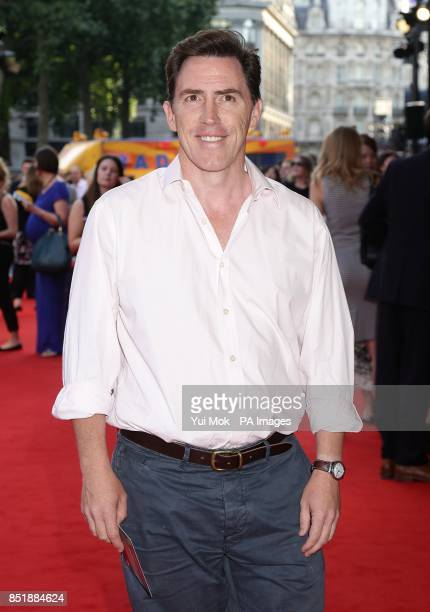 Rob Brydon arriving for the premiere of Alan Partridge Alpha Papa at the Vue West End in Leicester Square central London