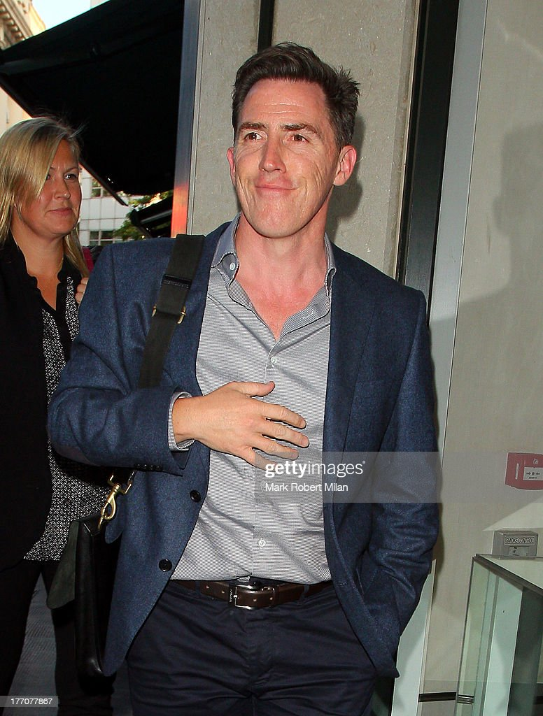 <a gi-track='captionPersonalityLinkClicked' href=/galleries/search?phrase=Rob+Brydon&family=editorial&specificpeople=618673 ng-click='$event.stopPropagation()'>Rob Brydon</a> at the Ivy Club to celebrate the birthday of David Walliams on August 20, 2013 in London, England.