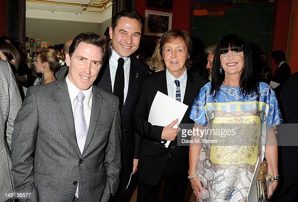 Rob Brydon David Walliams Sir Paul McCartney and Sandie Shaw attend 'A Celebration Of The Arts' at Royal Academy of Arts on May 23 2012 in London...