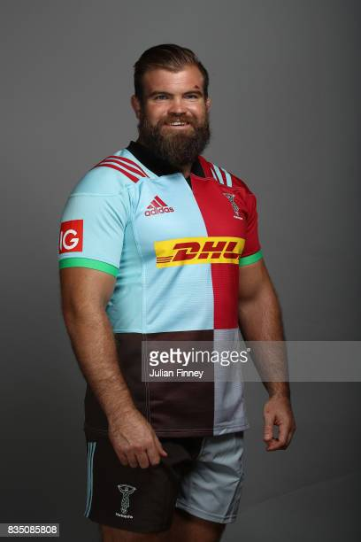 Rob Buchanan of Quins poses for a portrait during the Harlequins photocall for the 20172018 Aviva Premiership Rugby season at The Stoop on August 18...
