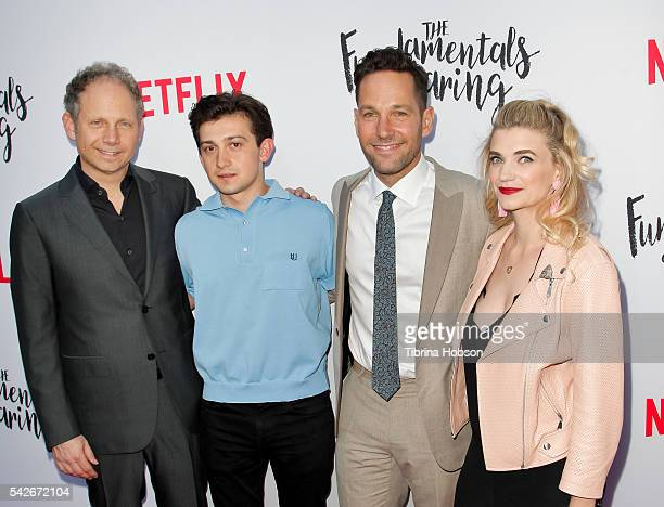 Rob Burnett Craig Roberts Paul Rudd and Megan Ferguson attend the Screening of Netflix's 'The Fundamentals Of Caring' at ArcLight Hollywood on June...