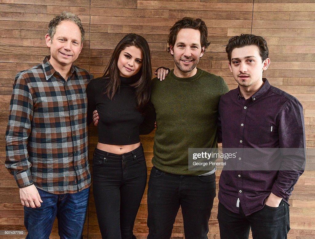 Rob Burnett, Selena Gomez, Paul Rudd and Craig Roberts attend 'The Fundamentals Of Caring' Portraits during the 2016 Sundance Film Festival at Acura Studio on January 29, 2016 in Park City, Utah.