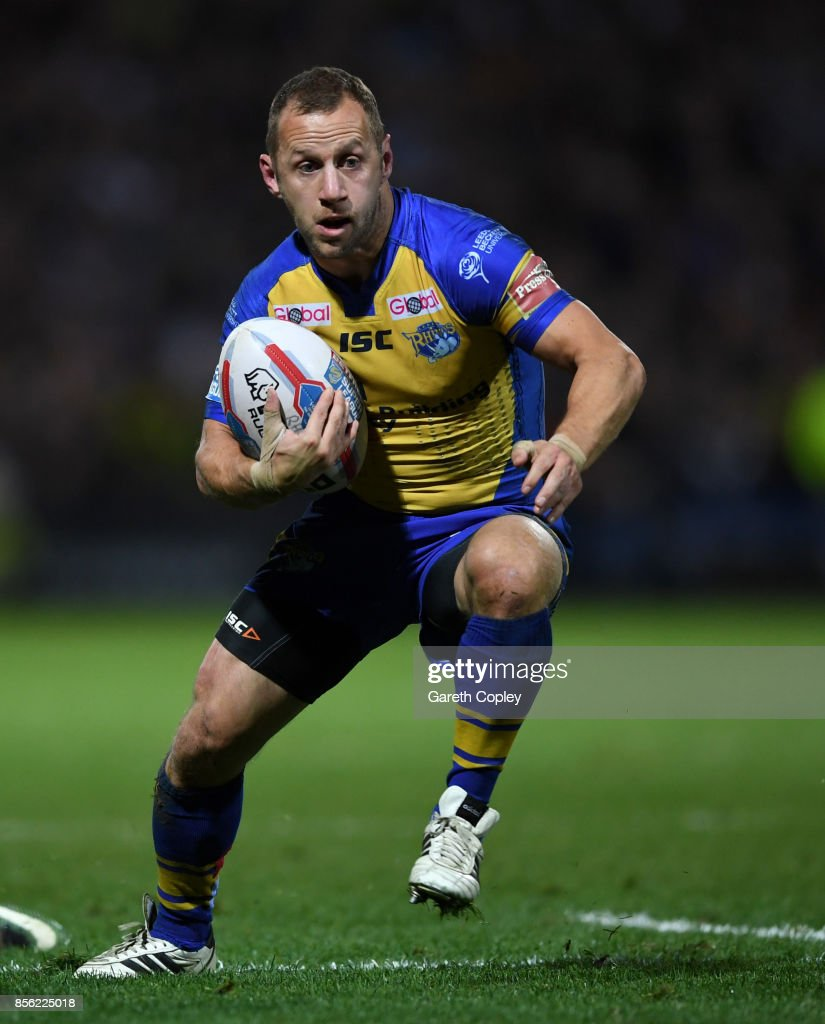 Rob Burrow of Leeds during the Betfred Super League semi final between Leeds Rhinos and Hull FC at Headingley on September 29, 2017 in Leeds, England.