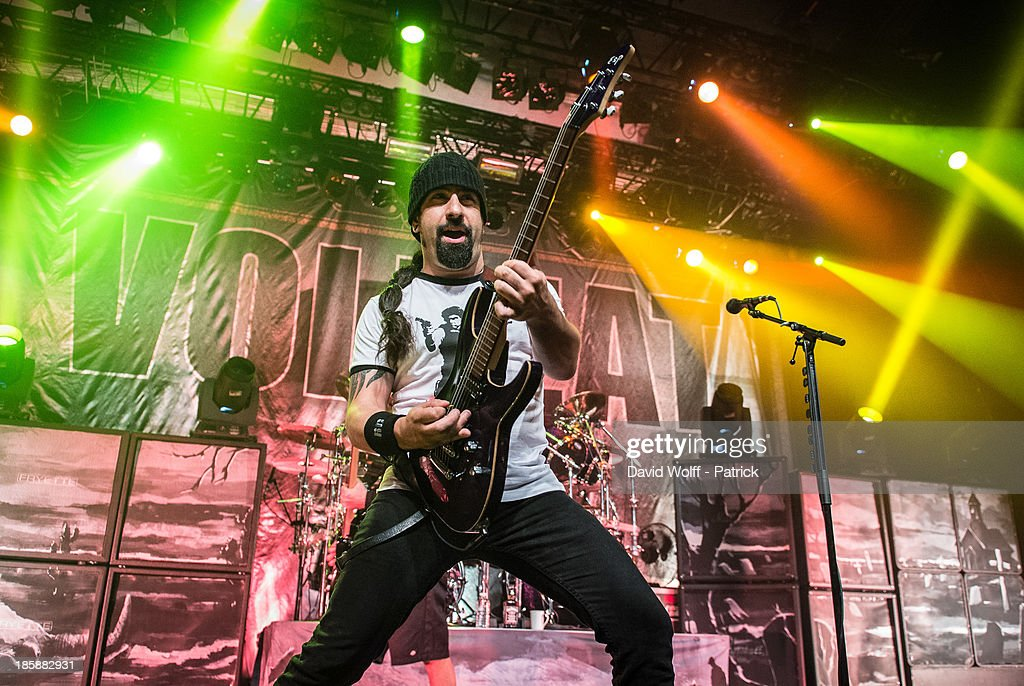 Rob Caggiano from Volbeat performs at Le Bataclan on October 25, 2013 in Paris, France.