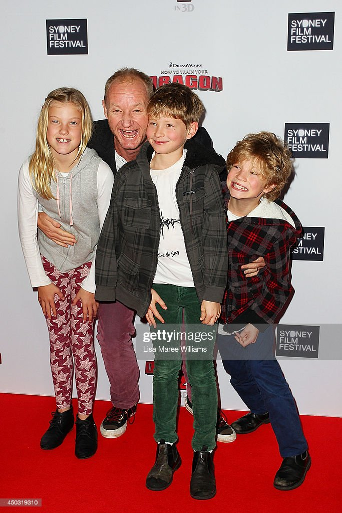 Rob Carlton and family attend the 'How To Train Your Dragon 2' Australian premiere at Event Cinemas George Street on June 9, 2014 in Sydney, Australia.