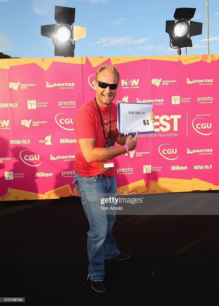 Rob Carlton arrives ahead of Tropfest 2016 at Centennial Park on February 14, 2016 in Sydney, Australia.