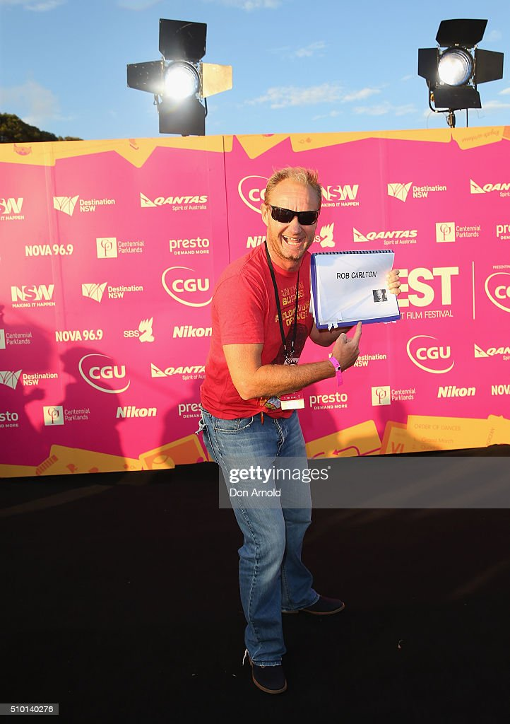 Rob Carlton arrives ahead of Tropfest 2016 at Centennial Park on February 14, 2016 in Sydney, Australia.