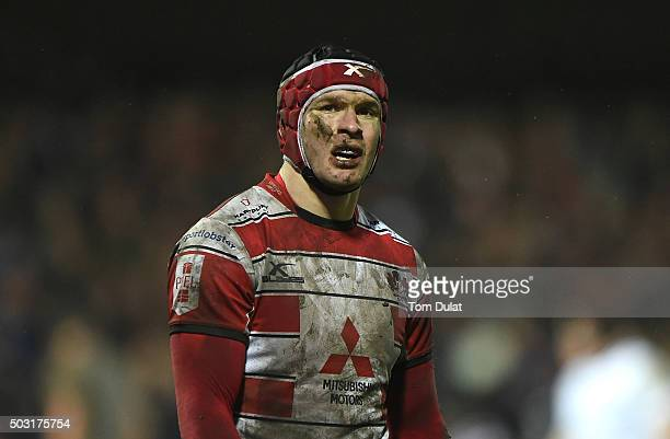 Rob Cook of Gloucester Rugby looks on during the Aviva Premiership match between Gloucester Rugby and London Irish at Kingsholm Stadium on January 2...