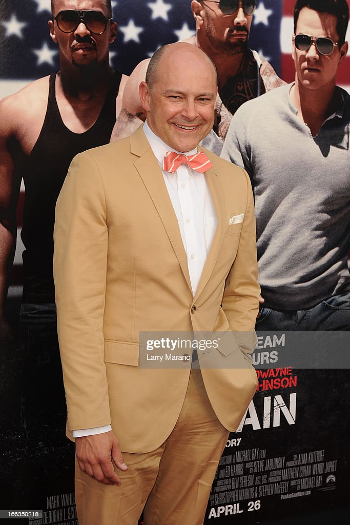 Rob Corddry attends the 'Pain & Gain' premiere on April 11, 2013 in Miami Beach, Florida.