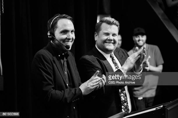 Rob Crabbe and James Corden during 'The Late Late Show with James Corden' Tuesday October 10 2017 On The CBS Television Network