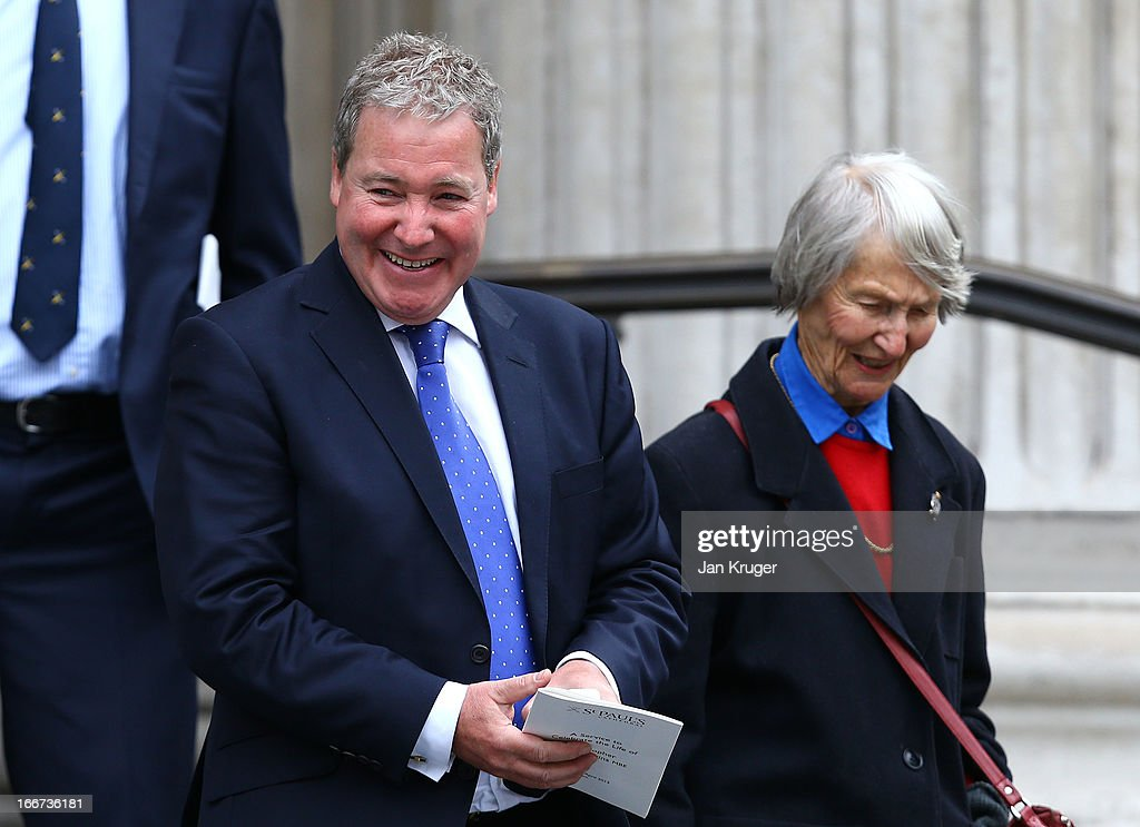 Rob Curling attends a memorial service to journalist and former president of the MCC, Christopher Martin-Jenkins MBE at St Paul's Cathedral on April 16, 2013 in London, England.