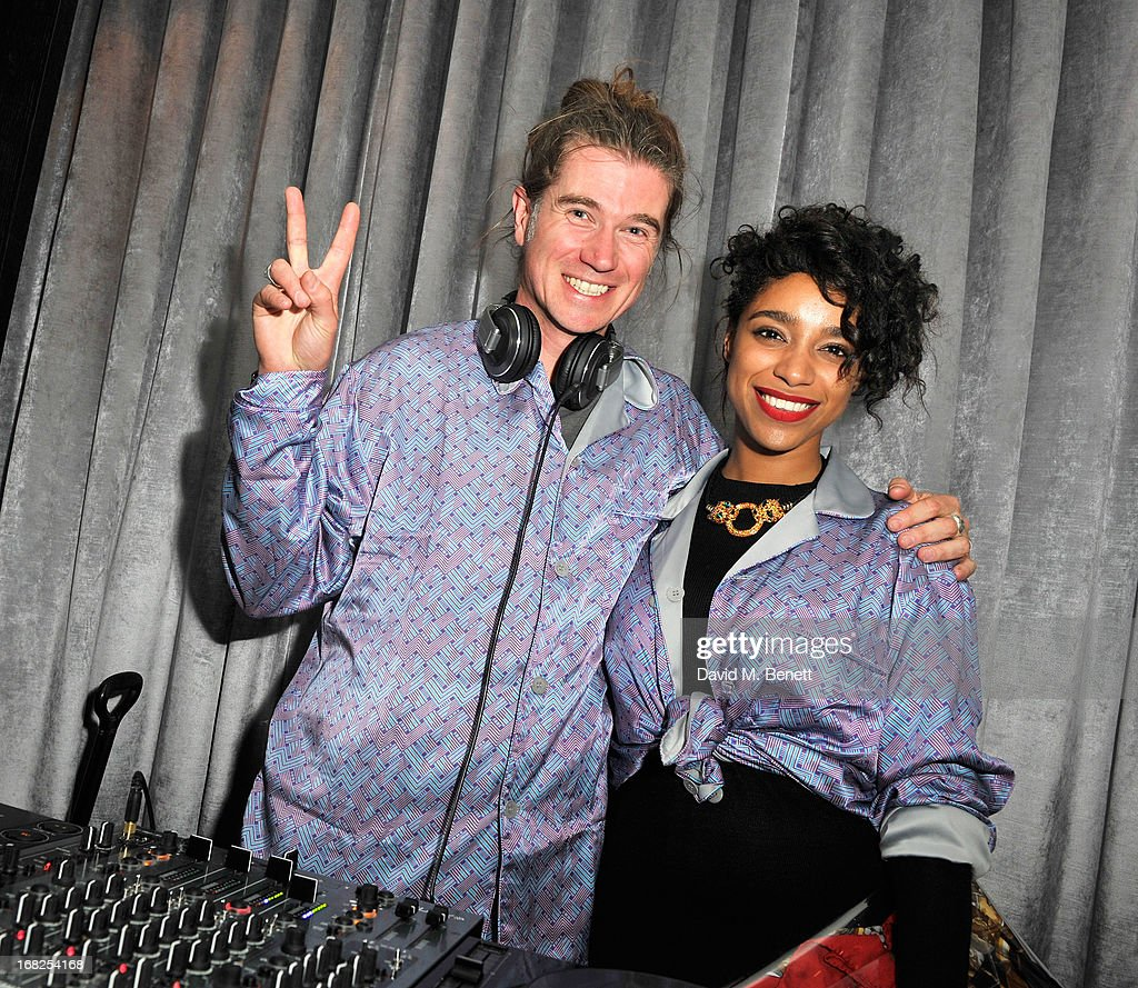 Rob Da Bank and <a gi-track='captionPersonalityLinkClicked' href=/galleries/search?phrase=Lianne+La+Havas&family=editorial&specificpeople=8664655 ng-click='$event.stopPropagation()'>Lianne La Havas</a> at the William Tempest x W London pyjama party in the new E WOW Suite at W London - Leicester Square on May 7, 2013 in London, England.