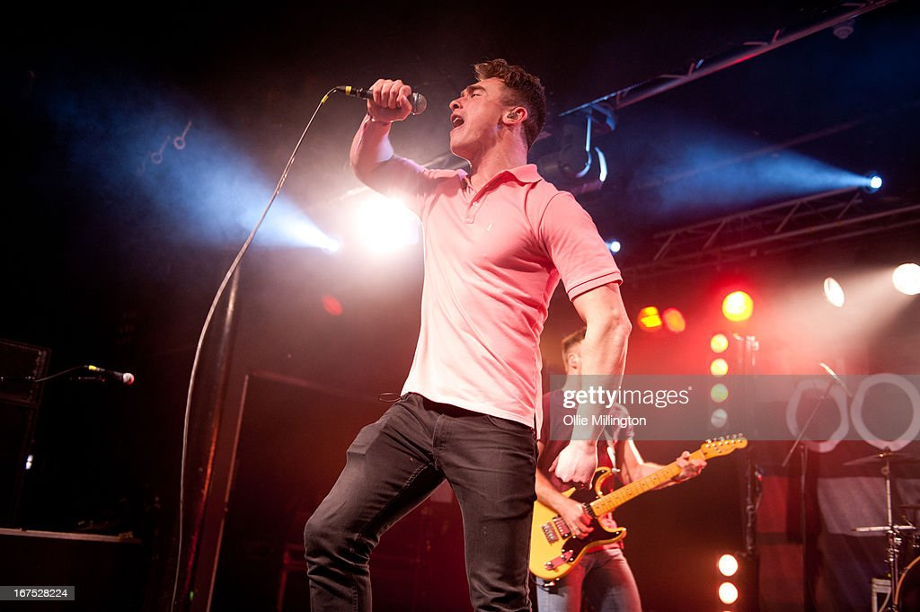 Rob Damian of Don Broco performs on stage at Rock City headlining the Hit The Deck Festival 2013 at Rock City on April 21, 2013 in Nottingham, England.