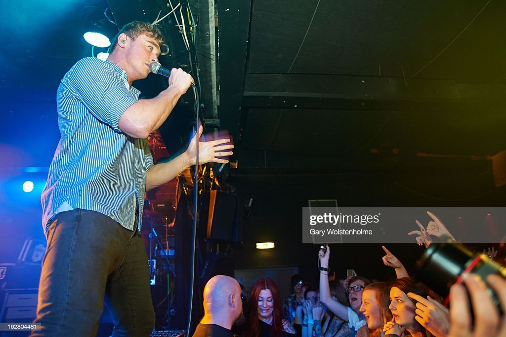 Rob Damiani of Don Broco performs on stage at the Corporation on February 27, 2013 in Sheffield, England.