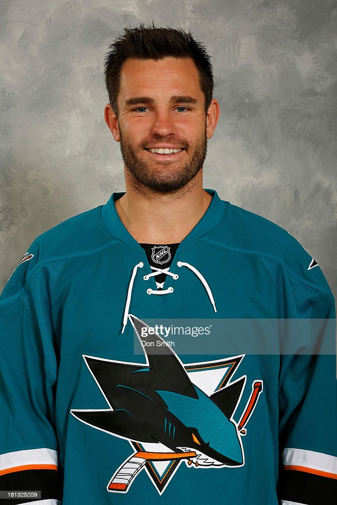 <a gi-track='captionPersonalityLinkClicked' href=/galleries/search?phrase=Rob+Davison&family=editorial&specificpeople=215149 ng-click='$event.stopPropagation()'>Rob Davison</a> of the San Jose Sharks poses for his official headshot for the 2013-14 season on September 11, 2013 at SAP Center in San Jose, California.