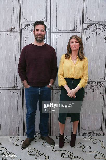 Rob Delaney and Sharon Horgan attend the AOL Build Speaker Series to discuss 'Catastrophe' Season 2 at AOL Studios In New York on April 6 2016 in New...