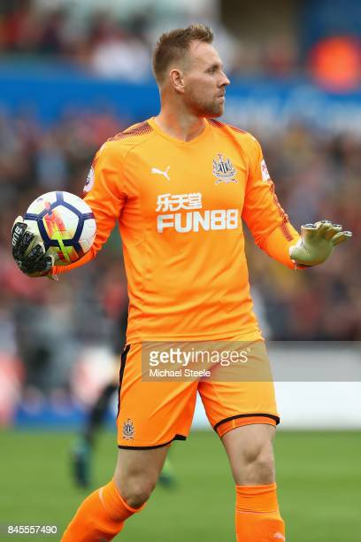 Rob Elliot of Newcastle United during the Premier League match between Swansea City and Newcastle United at Liberty Stadium on September 10 2017 in...