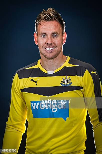 Rob Elliot poses for his head shot during a Newcastle United Photocall at The Newcastle United Training Centre on July 28 in Newcastle upon Tyne...