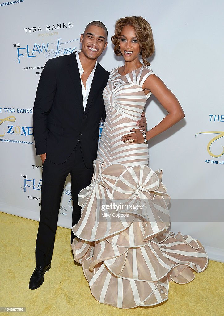 Rob Evans (L) and model/media personality Tyra Banks attend The Flawsome Ball For The Tyra Banks TZONE at Capitale on October 18, 2012 in New York City.