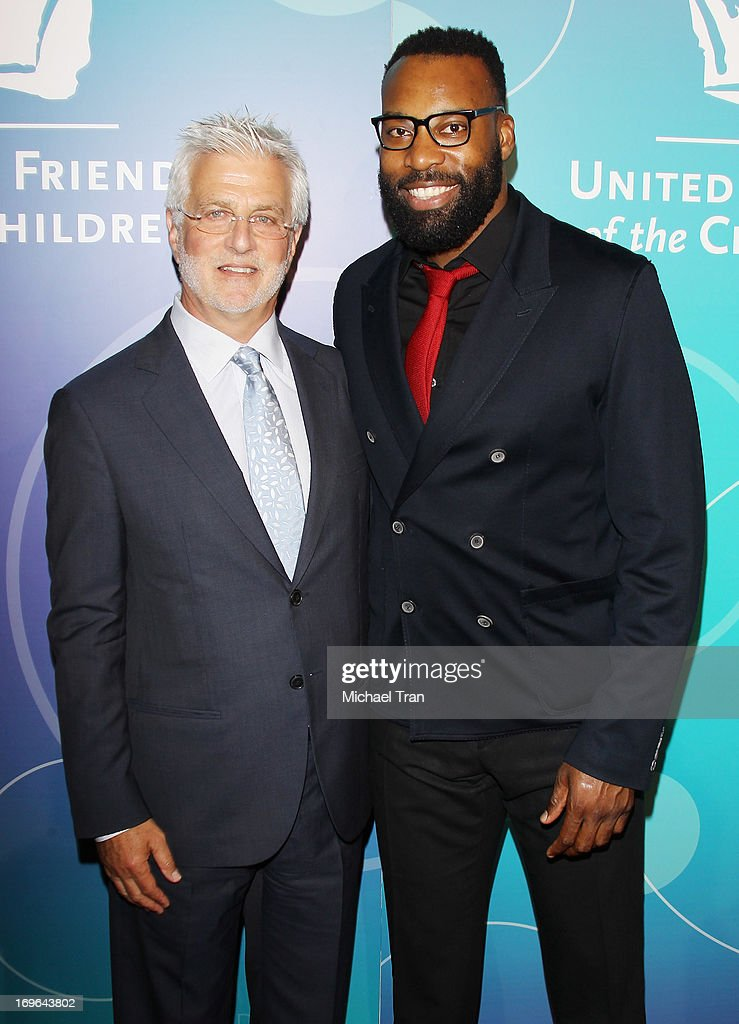 Rob Friedman (L) and Baron Davis arrive at the United Friends of the Children Brass Ring Awards 2013 held at The Beverly Hilton Hotel on May 29, 2013 in Beverly Hills, California.
