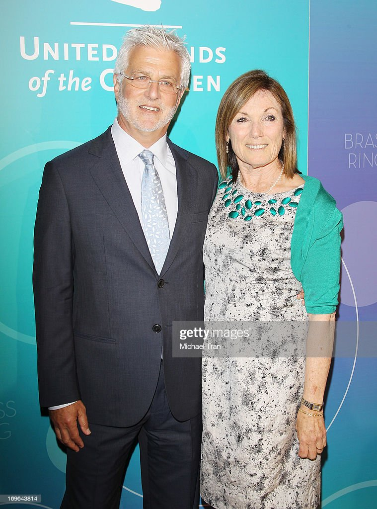 Rob Friedman (L) and Wendy Smith Meyer arrive at the United Friends of the Children Brass Ring Awards 2013 held at The Beverly Hilton Hotel on May 29, 2013 in Beverly Hills, California.