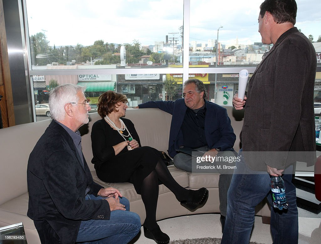 <a gi-track='captionPersonalityLinkClicked' href=/galleries/search?phrase=Rob+Friedman&family=editorial&specificpeople=234962 ng-click='$event.stopPropagation()'>Rob Friedman</a>, Co-Chairman, Lionsgate, <a gi-track='captionPersonalityLinkClicked' href=/galleries/search?phrase=Amy+Pascal&family=editorial&specificpeople=207083 ng-click='$event.stopPropagation()'>Amy Pascal</a>, Co-Chairman, Sony Pictures Entertainment, <a gi-track='captionPersonalityLinkClicked' href=/galleries/search?phrase=Jim+Gianopulos&family=editorial&specificpeople=211611 ng-click='$event.stopPropagation()'>Jim Gianopulos</a>, Chairman 20th Century Fox Film, and <a gi-track='captionPersonalityLinkClicked' href=/galleries/search?phrase=Adam+Fogelson&family=editorial&specificpeople=834470 ng-click='$event.stopPropagation()'>Adam Fogelson</a>, Chairman, Universal Pictures, attend Deadline Hollywood's The Contenders at the Landmark Theater on November 10, 2012 in Los Angeles, California.
