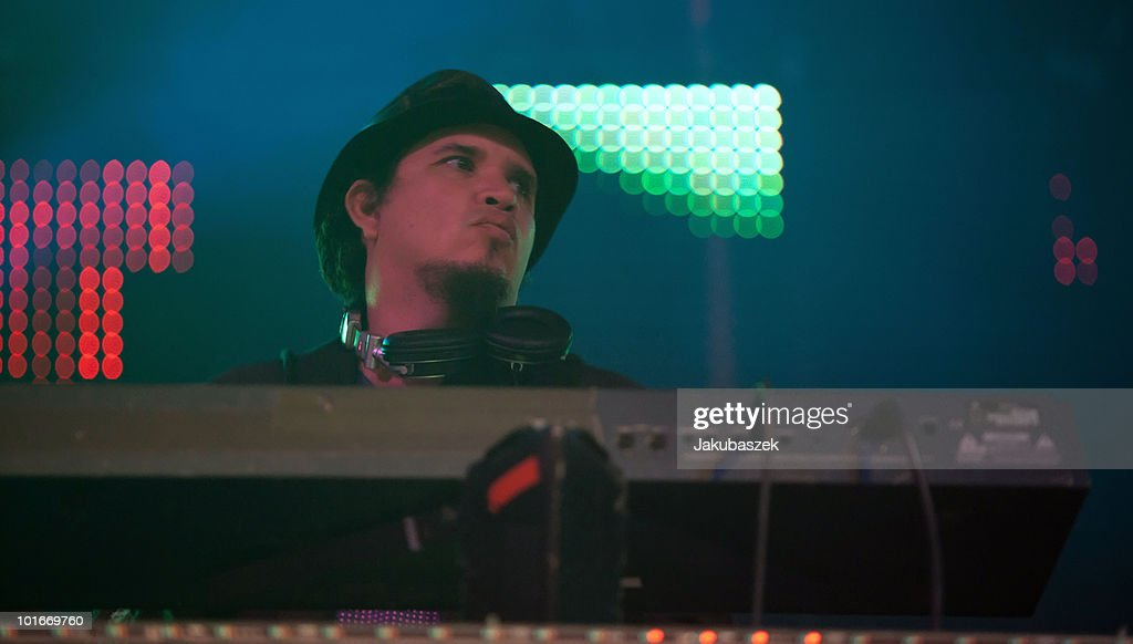 DJ Rob Garza of the American band Thievery Corporation performs live at the Huxleys Neue Welt on June 6, 2010 in Berlin, Germany.