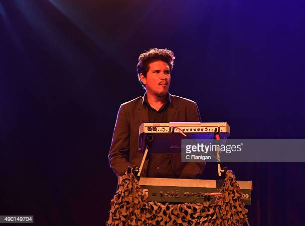 Rob Garza of Thievery Corporation performs during the 2015 Life is Beautiful festival on September 25 2015 in Las Vegas Nevada
